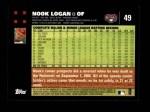 2007 Topps #49  Nook Logan  Back Thumbnail