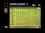 2007 Topps #14  Eliezer Alfonzo  Back Thumbnail