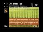 2007 Topps #92  Joe Crede  Back Thumbnail
