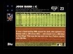 2007 Topps #23  Josh Bard  Back Thumbnail