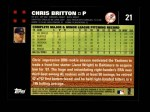 2007 Topps #21  Chris Britton  Back Thumbnail