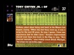 2007 Topps #37  Tony Gwynn Jr.  Back Thumbnail