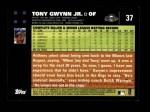2007 Topps #37  Tony Gwynn Jr.  Back Thumbnail