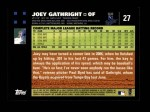 2007 Topps #27  Joey Gathright  Back Thumbnail