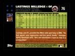 2007 Topps #76  Lastings Milledge  Back Thumbnail