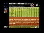 2007 Topps #76  Lastings Milledge  Back Thumbnail
