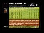 2007 Topps #94  Willy Taveras  Back Thumbnail