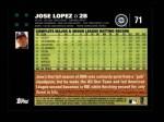 2007 Topps #71  Jose Lopez  Back Thumbnail