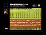 2007 Topps #28  Brandon Inge  Back Thumbnail