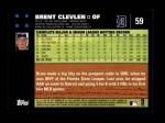 2007 Topps #59  Brent Clevlen  Back Thumbnail