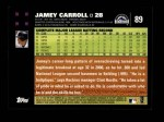 2007 Topps #89  Jamey Carroll  Back Thumbnail