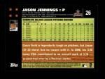 2007 Topps #26  Jason Jennings  Back Thumbnail