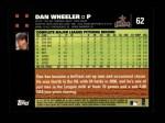 2007 Topps #62  Dan Wheeler  Back Thumbnail