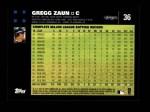 2007 Topps #36  Gregg Zaun  Back Thumbnail