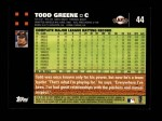2007 Topps #44  Todd Greene  Back Thumbnail