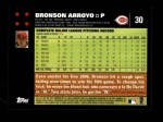 2007 Topps #30  Bronson Arroyo  Back Thumbnail