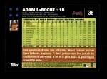 2007 Topps #38  Adam LaRoche  Back Thumbnail