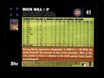 2007 Topps #41  Rich Hill  Back Thumbnail