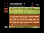 2007 Topps #75  Jered Weaver  Back Thumbnail