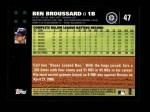 2007 Topps #47  Ben Broussard  Back Thumbnail