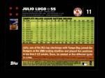 2007 Topps #11  Julio Lugo  Back Thumbnail