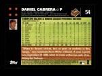 2007 Topps #54  Daniel Cabrera  Back Thumbnail