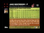 2007 Topps #72  Jake Westbrook  Back Thumbnail