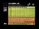 2007 Topps #12  J.D. Drew  Back Thumbnail