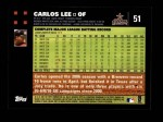 2007 Topps #51  Carlos Lee  Back Thumbnail
