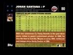 2007 Topps #80  Johan Santana  Back Thumbnail