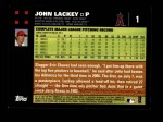 2007 Topps #1  John Lackey  Back Thumbnail