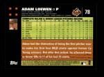 2007 Topps #78  Adam Loewen  Back Thumbnail