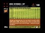2007 Topps #188  Eric Byrnes  Back Thumbnail