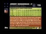 2007 Topps #155  Jeremy Bonderman  Back Thumbnail