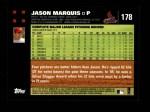 2007 Topps #178  Jason Marquis  Back Thumbnail