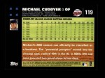 2007 Topps #119  Michael Cuddyer  Back Thumbnail
