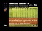 2007 Topps #177  Francisco Cordero  Back Thumbnail