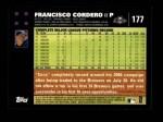 2007 Topps #177  Francisco Cordero  Back Thumbnail