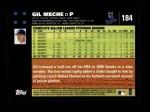 2007 Topps #184  Gil Meche  Back Thumbnail
