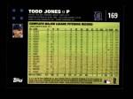 2007 Topps #169  Todd Jones  Back Thumbnail