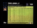 2007 Topps #169  Todd Jones  Back Thumbnail