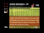 2007 Topps #159  Jason Michaels  Back Thumbnail