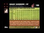 2007 Topps #186  Grady Sizemore  Back Thumbnail