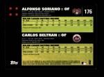 2007 Topps #176   -  Alfonso Soriano / Carlos Beltran Classic Combo Back Thumbnail