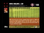 2007 Topps #108  Wes Helms  Back Thumbnail