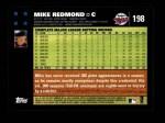 2007 Topps #198  Mike Redmond  Back Thumbnail