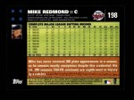 2007 Topps #198  Mike Redmond  Back Thumbnail