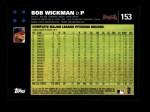 2007 Topps #153  Bob Wickman  Back Thumbnail