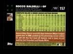 2007 Topps #157  Rocco Baldelli  Back Thumbnail