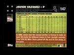 2007 Topps #147  Javier Vazquez  Back Thumbnail